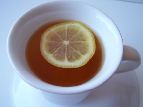 Calming lavender green herbal tea