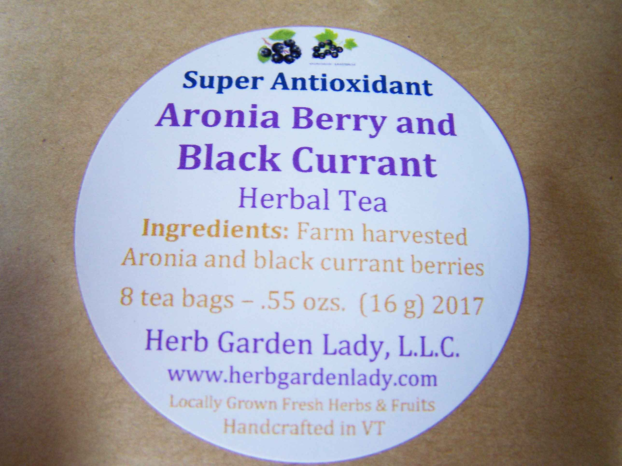 Aronia Berry tea super antioxidant herbal tea