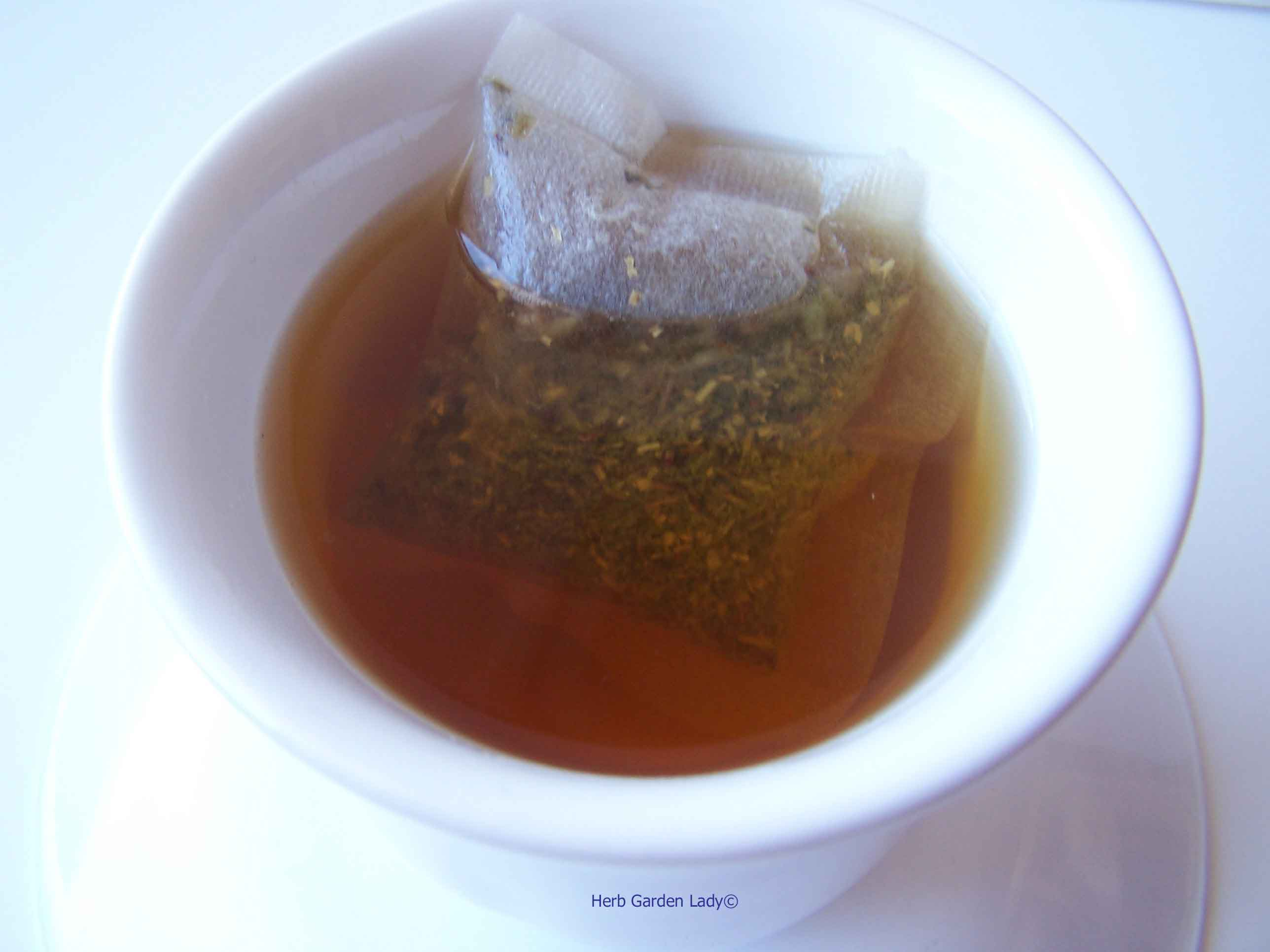 Peppermint and sage tea