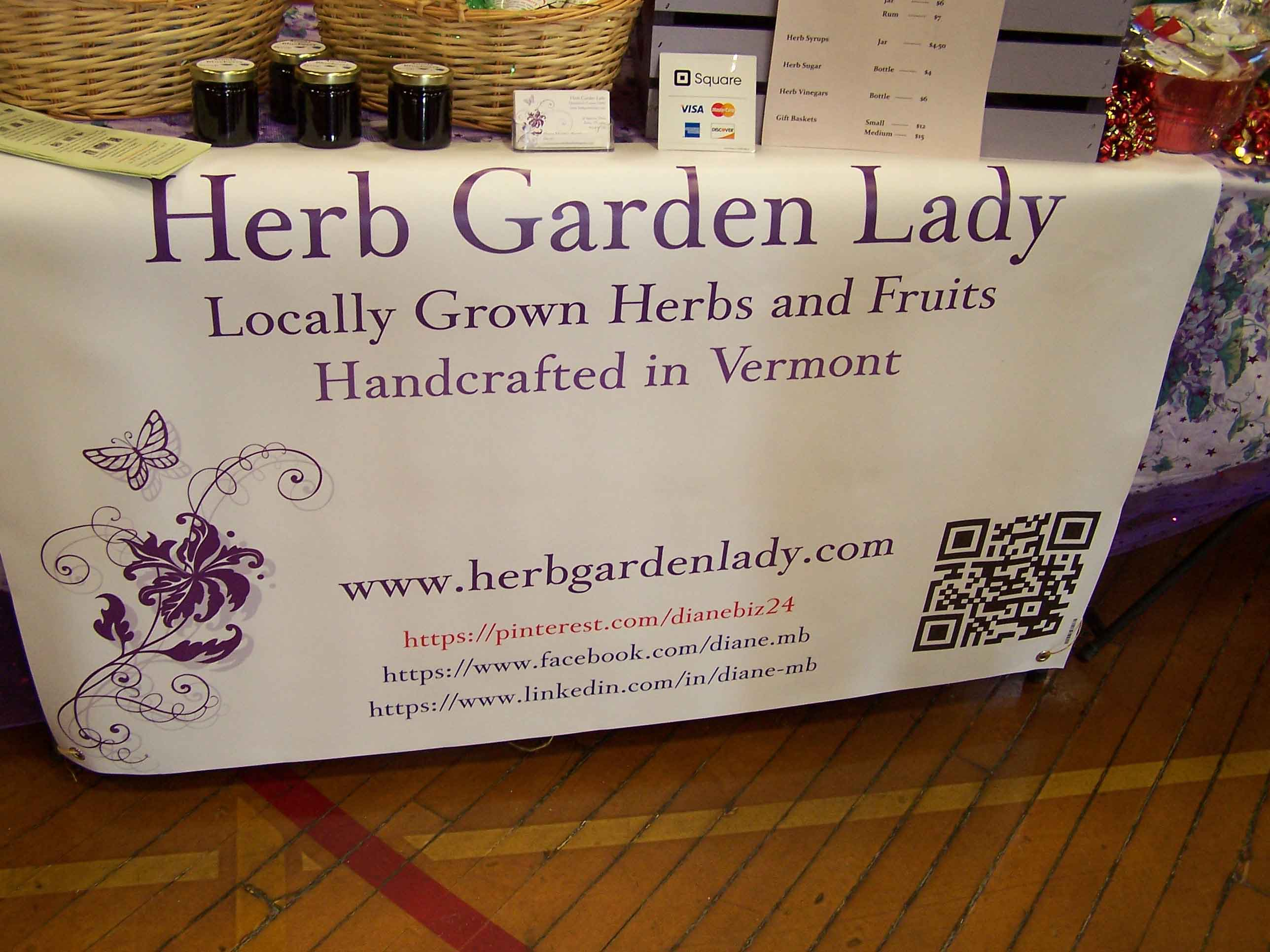 Got a new banner for my table at the Farmers Market!