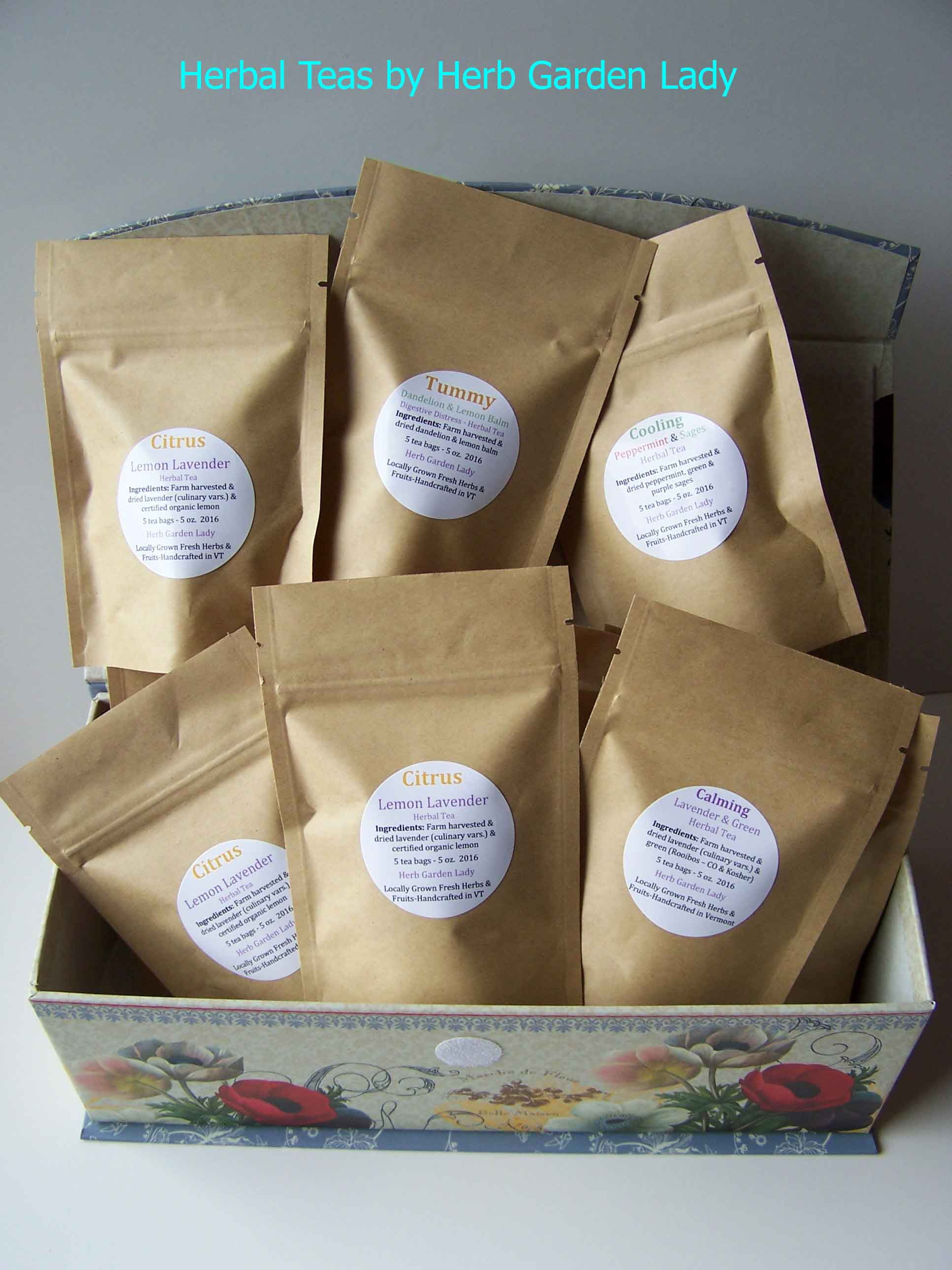 Herbal teas by Herb Garden Lady